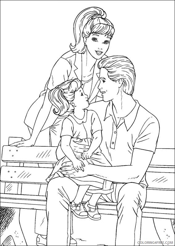 Family Coloring Pages barbies family Printable 2021 2419 Coloring4free