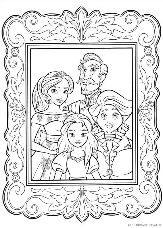 Family Coloring Pages elena family photo a4 Printable 2021 2422 Coloring4free
