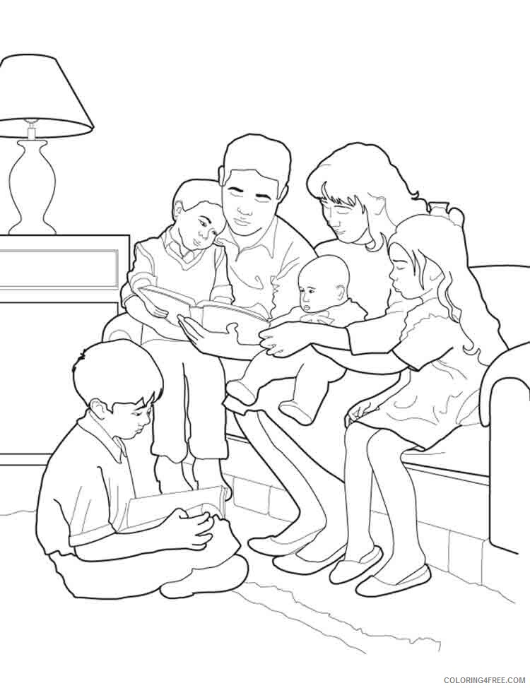 Family Coloring Pages family 10 Printable 2021 2460 Coloring4free