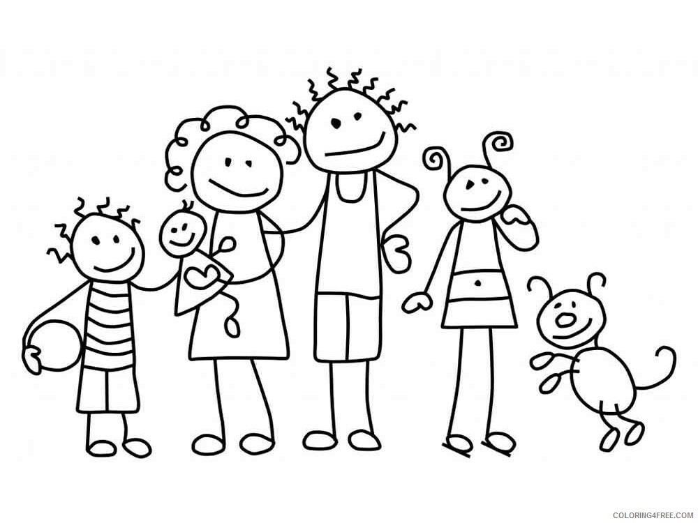 Family Coloring Pages Family 3 Printable 2021 2464 Coloring4free -  Coloring4Free.com