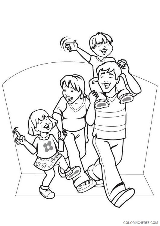 Family Coloring Pages family Printable 2021 2435 Coloring4free