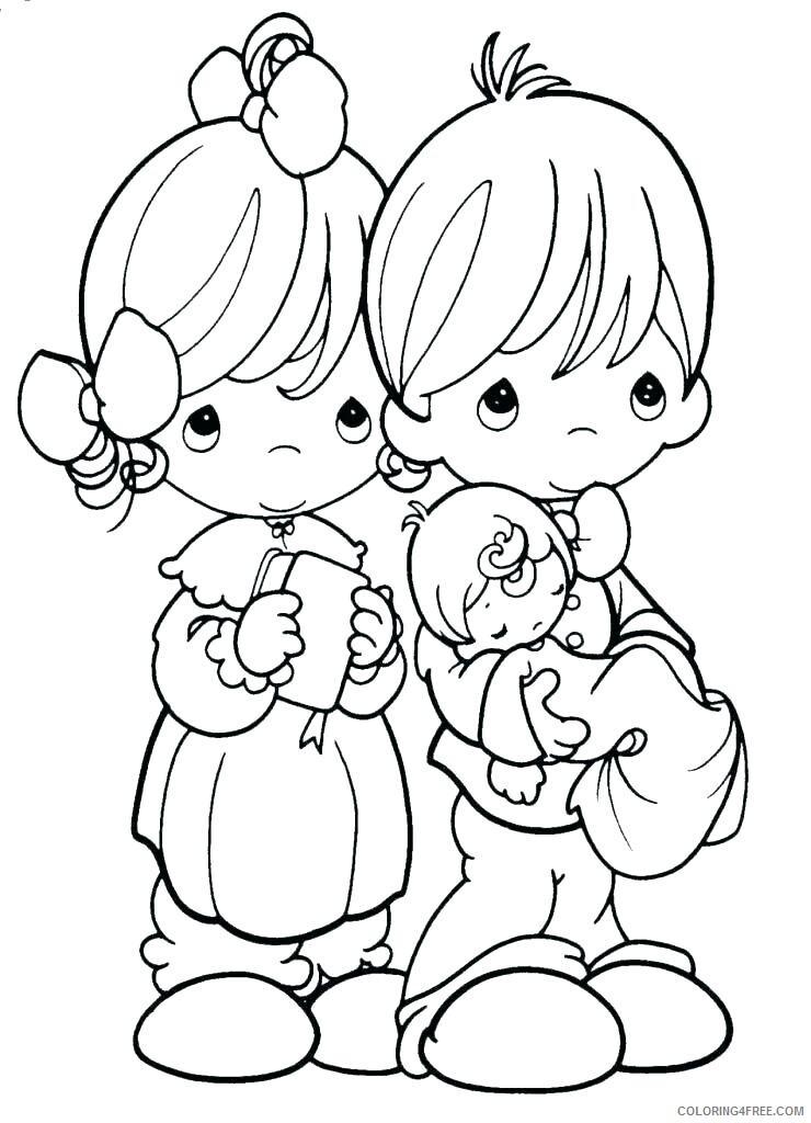 Family Coloring Pages family precious moments holy pictu Printable 2021 2427 Coloring4free