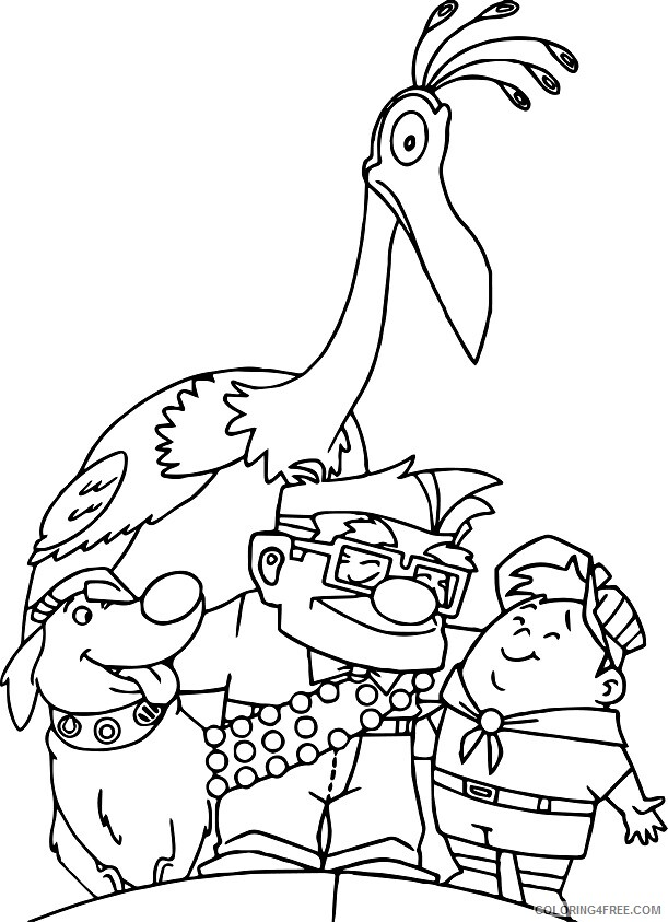 Family Coloring Pages happy family in up a4 Printable 2021 2425 Coloring4free