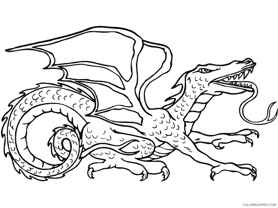 Fantasy Dragons Coloring Pages 24 Printable 2021 2538 Coloring4free
