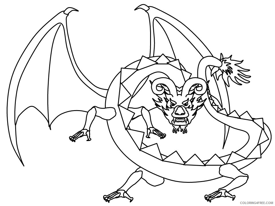Fantasy Dragons Coloring Pages 31 Printable 2021 2540 Coloring4free