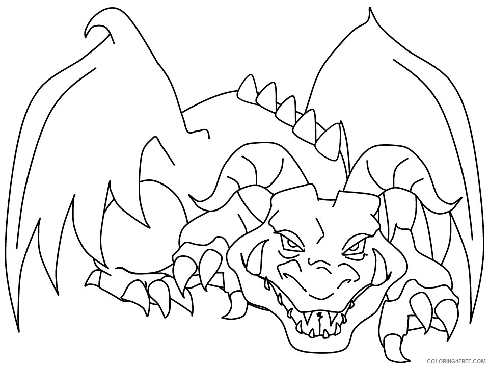 Fantasy Dragons Coloring Pages 36 Printable 2021 2545 Coloring4free