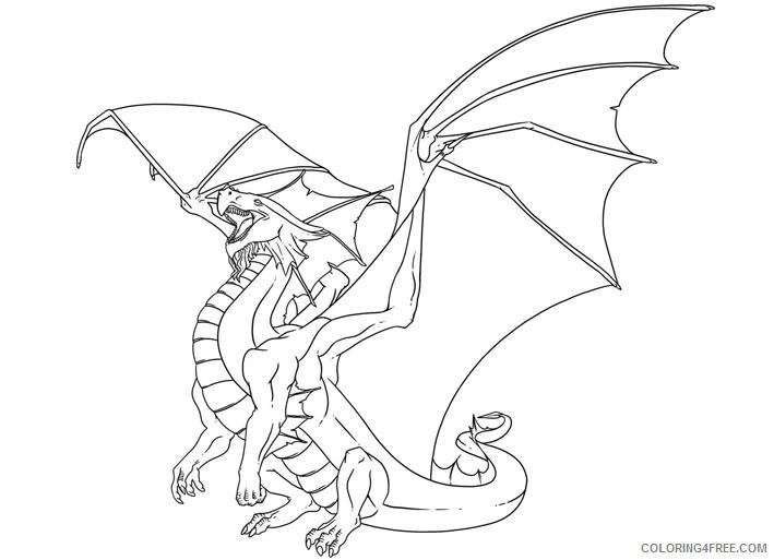 Fantasy Dragons Coloring Pages Dragon Printable 2021 2559 Coloring4free