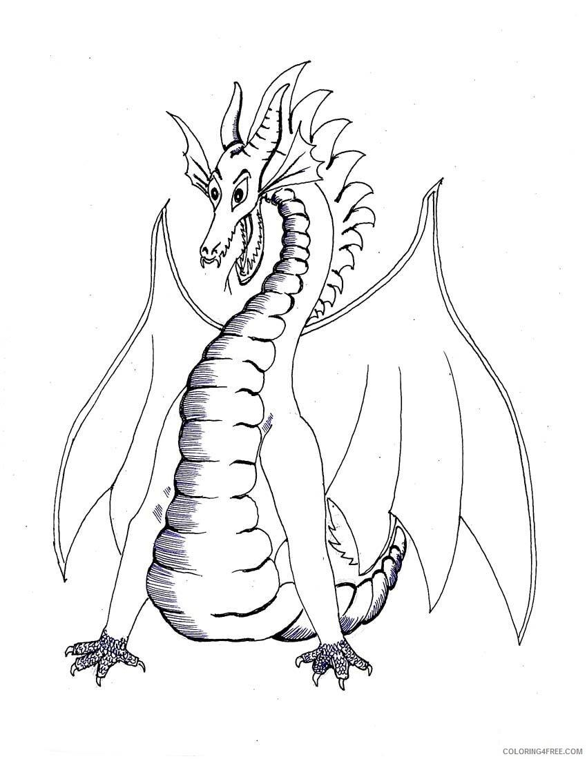 Fantasy Dragons Coloring Pages Dragon Printable 2021 2561 Coloring4free