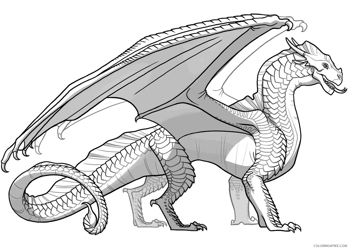 Fantasy Dragons Coloring Pages Dragon for Adults Printable 2021 2563 Coloring4free