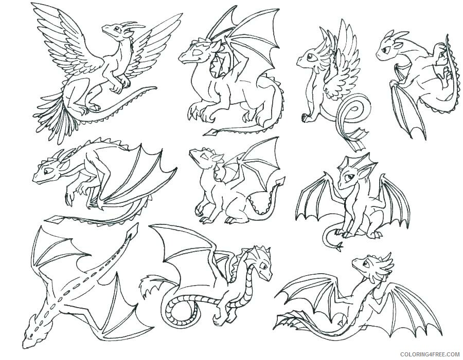 Fantasy Dragons Coloring Pages Dragons Printable 2021 2584 Coloring4free
