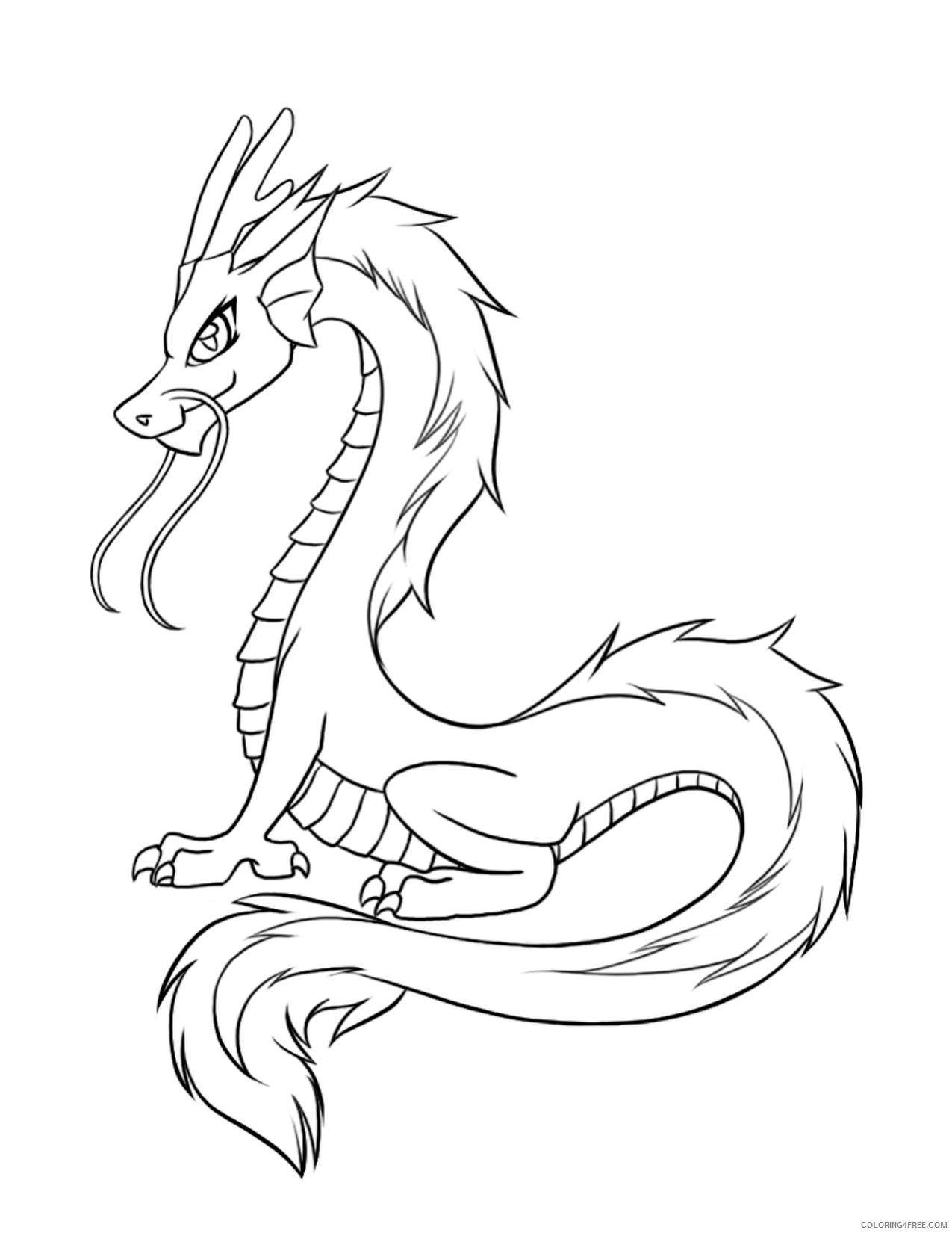 Fantasy Dragons Coloring Pages Real Dragon Printable 2021 2596 Coloring4free