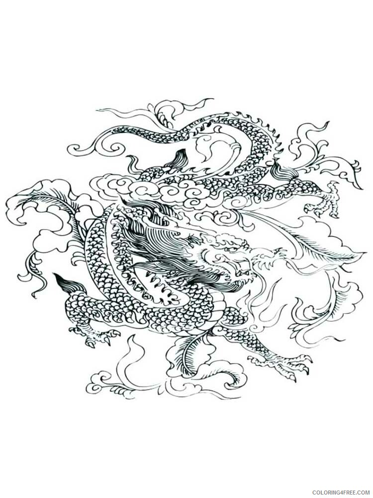 Fantasy Dragons Coloring Pages dragon for adults 13 Printable 2021 2568 Coloring4free