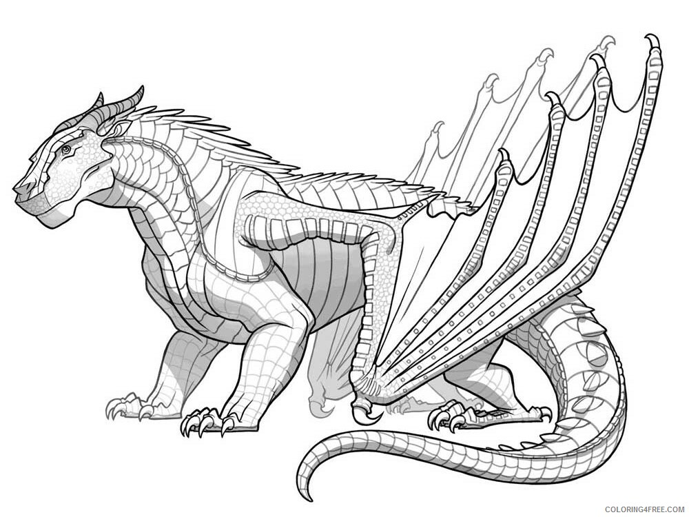 Fantasy Dragons Coloring Pages Dragon For Adults 7 Printable 2021 2573  Coloring4free - Coloring4Free.com