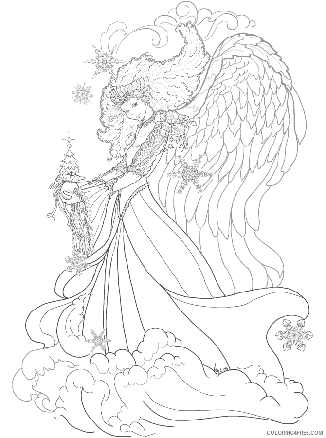 Fantasy Fairies Coloring Pages Fairies Printable 2021 2608 Coloring4free