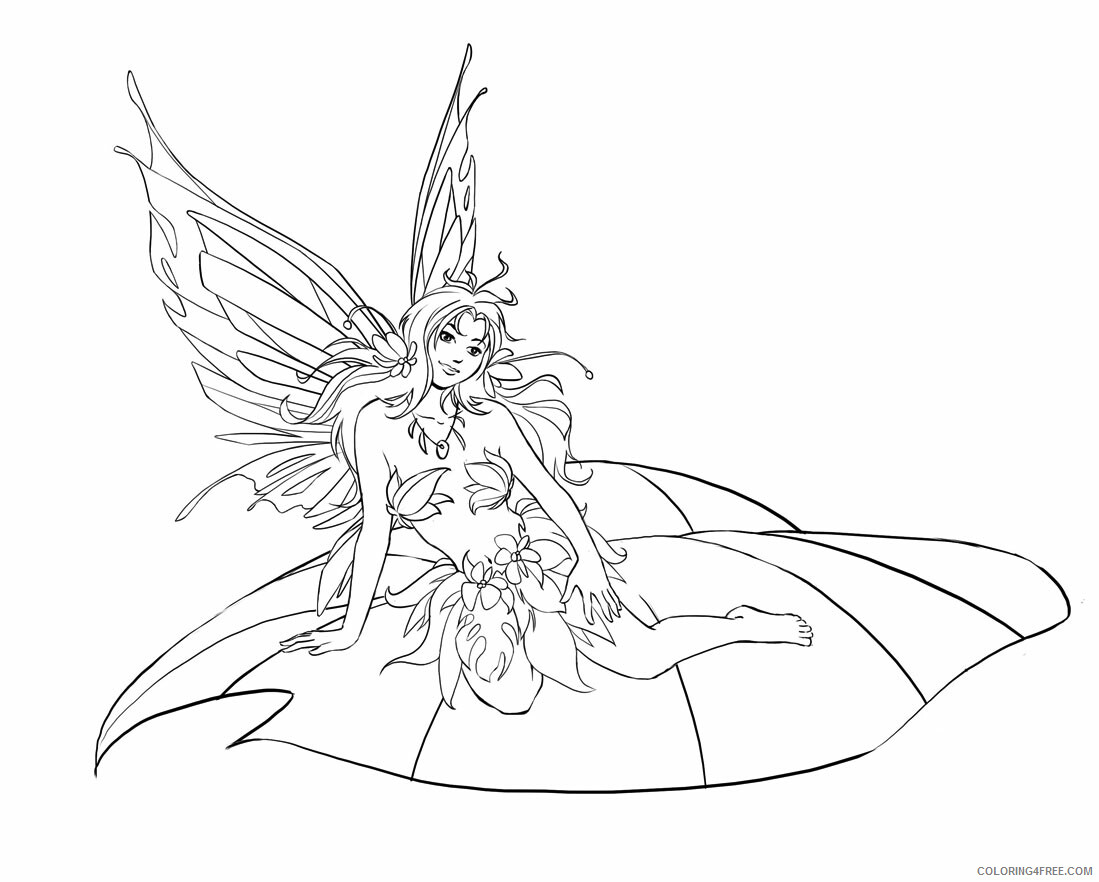 Fantasy Fairies Coloring Pages Fairies Printable 2021 2617 Coloring4free