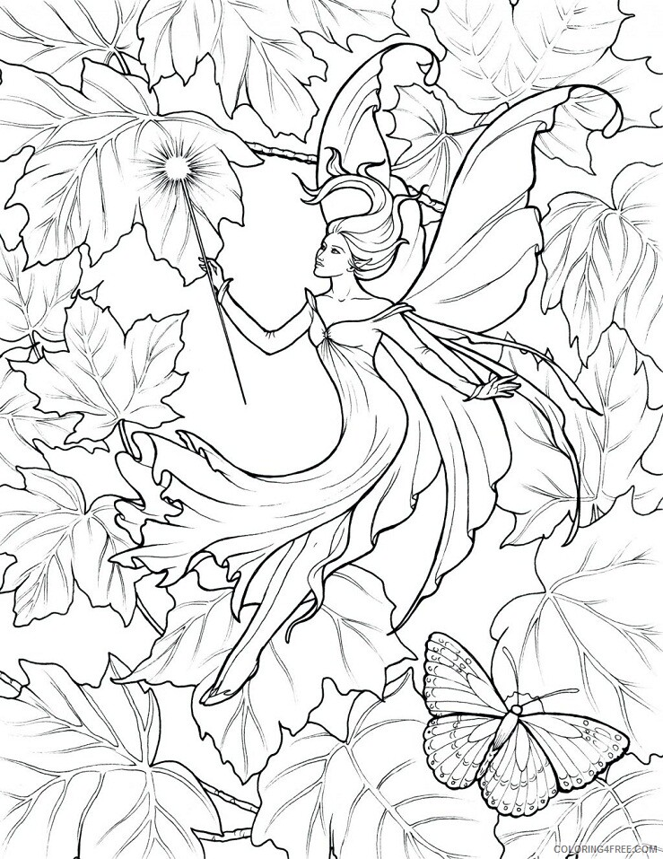 Fantasy Fairies Coloring Pages remarkable fairy books Printable 2021 2601 Coloring4free