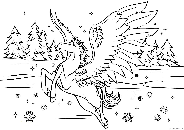 Fantasy Pegasus Coloring Pages lifetime pegasus colouring Printable 2021 2630 Coloring4free