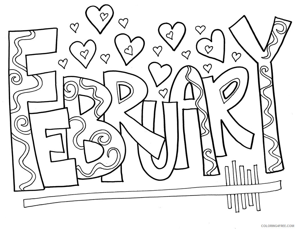 February Coloring Pages February Printable 2021 2650 Coloring4free
