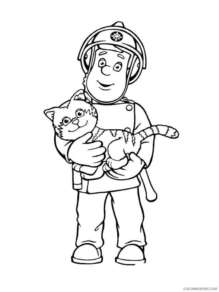 Fireman Coloring Pages Fireman 3 Printable 2021 2656 Coloring4free