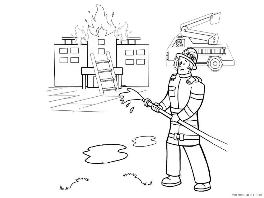 Fireman Coloring Pages Fireman 8 Printable 2021 2660 Coloring4free