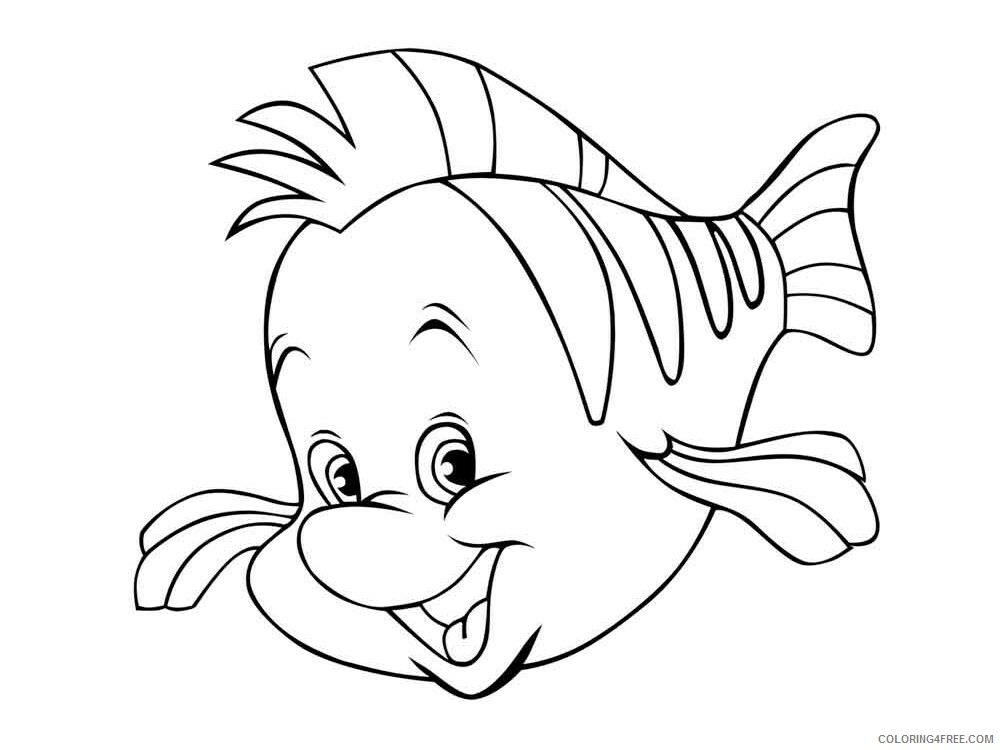 Flounder Coloring Pages flounder 6 Printable 2021 2667 Coloring4free