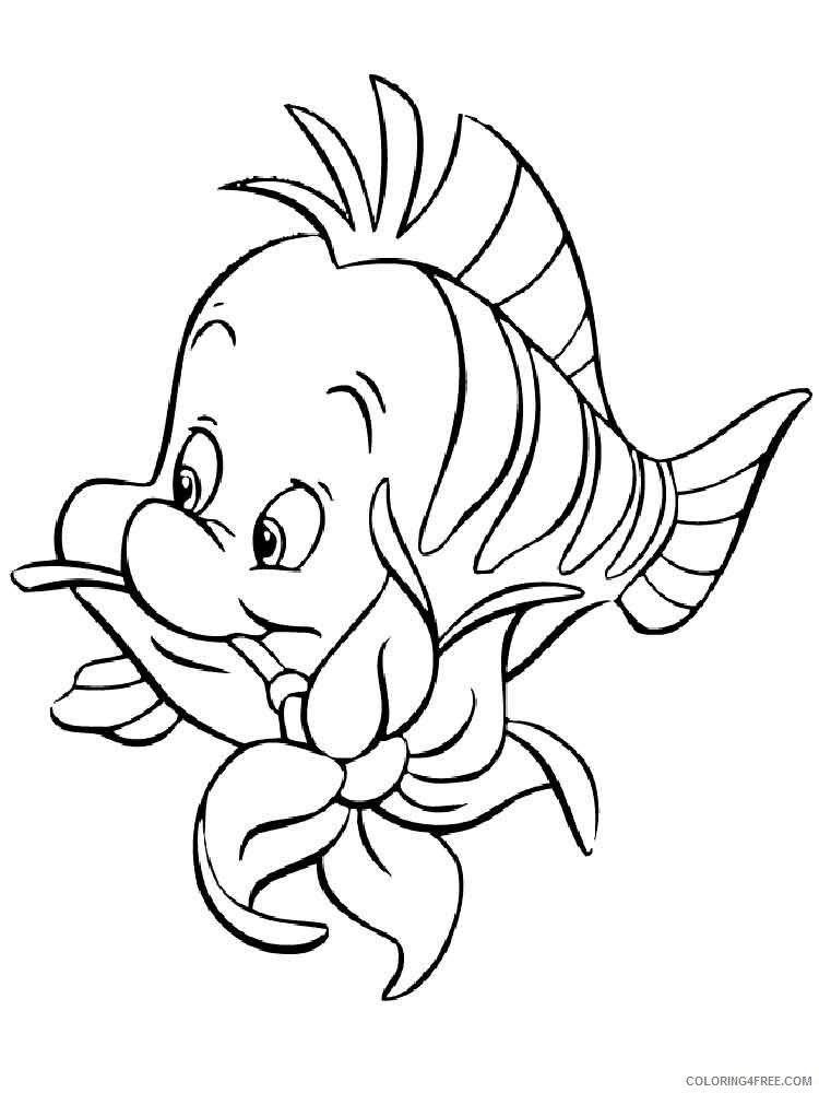 Flounder Coloring Pages flounder 7 Printable 2021 2668 Coloring4free