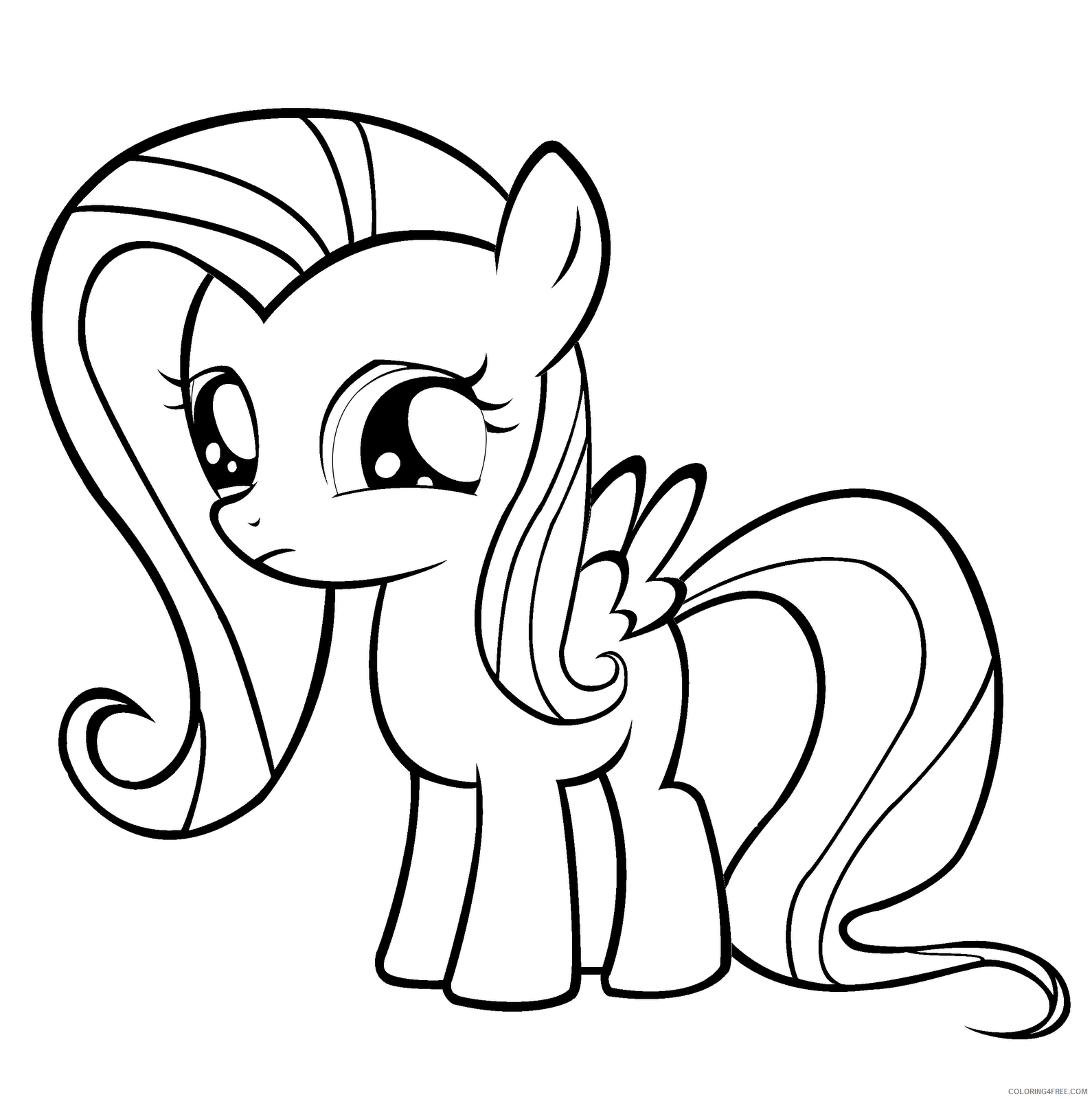 Fluttershy Coloring Pages Fluttershy Printable 2021 2677 Coloring4free