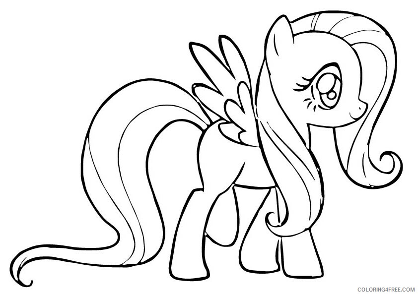 Fluttershy Coloring Pages fluttershy 2 Printable 2021 2676 Coloring4free