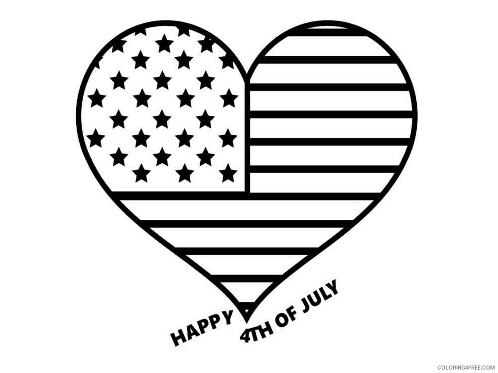 Fourth of July Coloring Pages fourth of july 15 Printable 2021 2737 Coloring4free