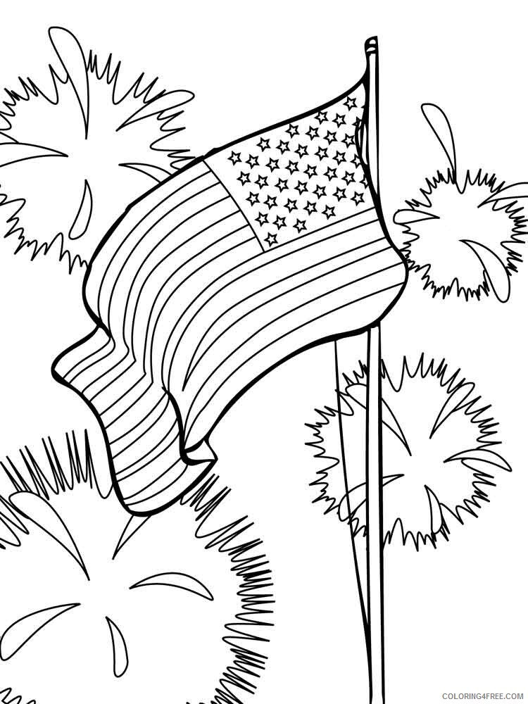 Fourth of July Coloring Pages fourth of july 9 Printable 2021 2743 Coloring4free