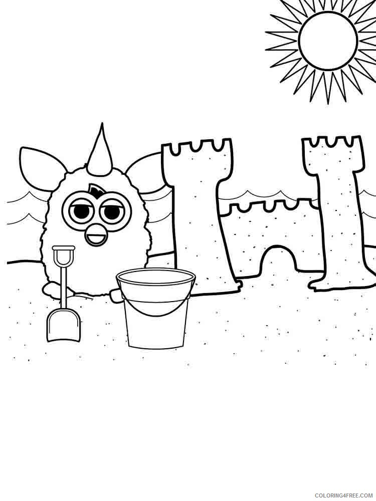 Furby Coloring Pages furby 1 Printable 2021 2745 Coloring4free