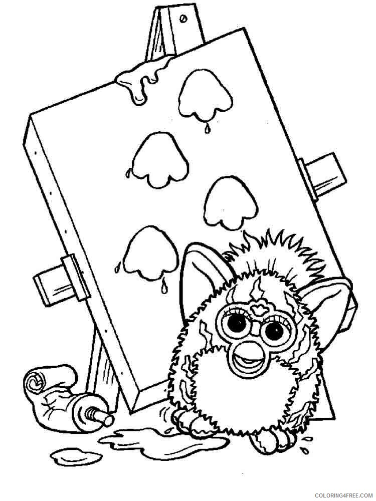 Furby Coloring Pages furby 5 Printable 2021 2748 Coloring4free