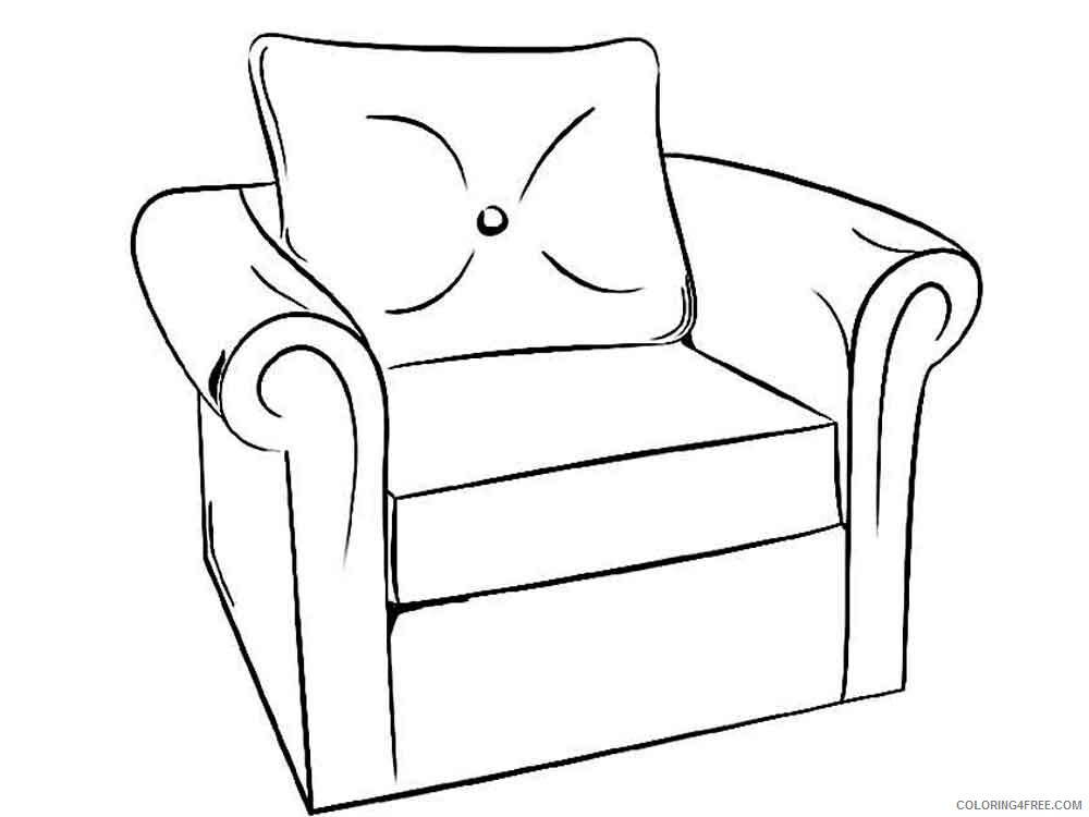 Furniture Coloring Pages Furniture 14 Printable 2021 2754 Coloring4free