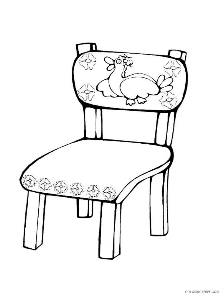 Furniture Coloring Pages Furniture 17 Printable 2021 2755 Coloring4free