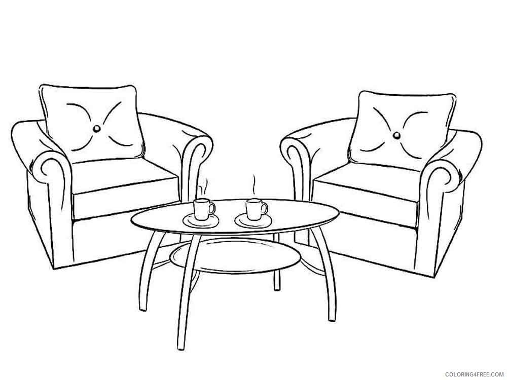 Furniture Coloring Pages Furniture 2 Printable 2021 2757 Coloring4free