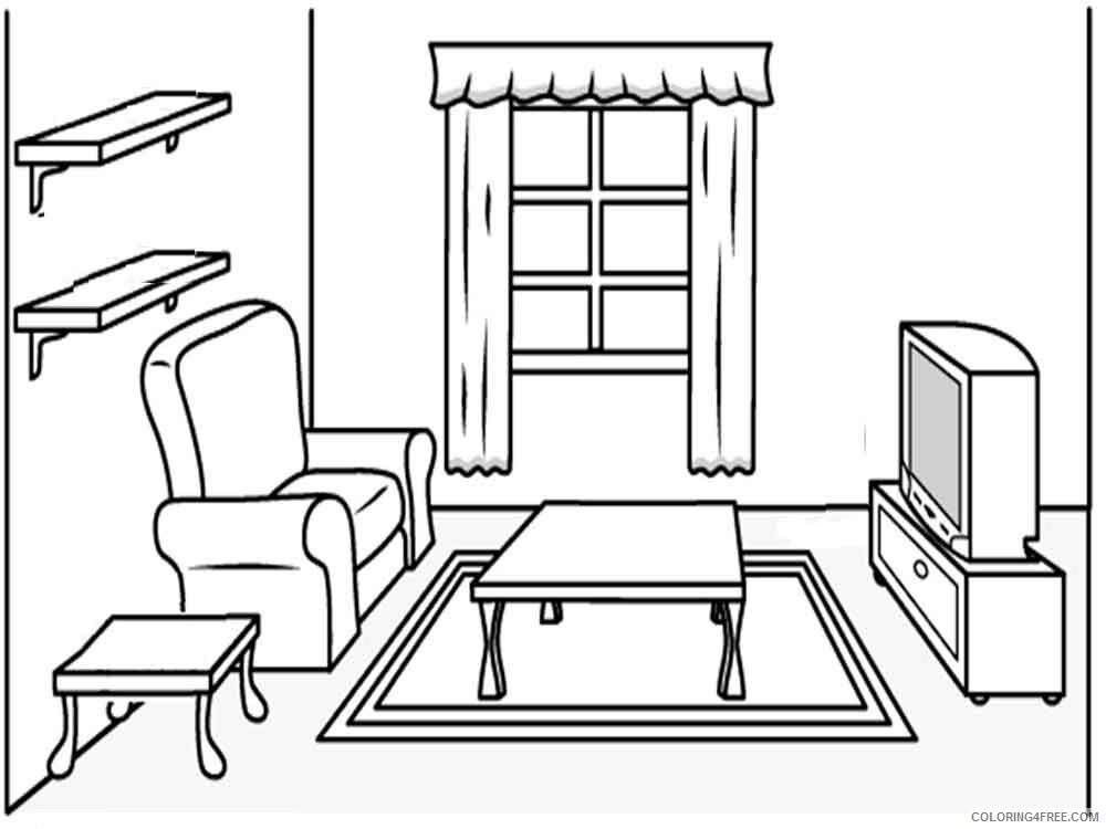 Furniture Coloring Pages Furniture 32 Printable 2021 2763 Coloring4free