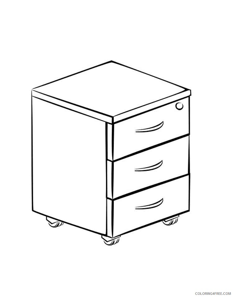 Furniture Coloring Pages Furniture 8 Printable 2021 2769 Coloring4free