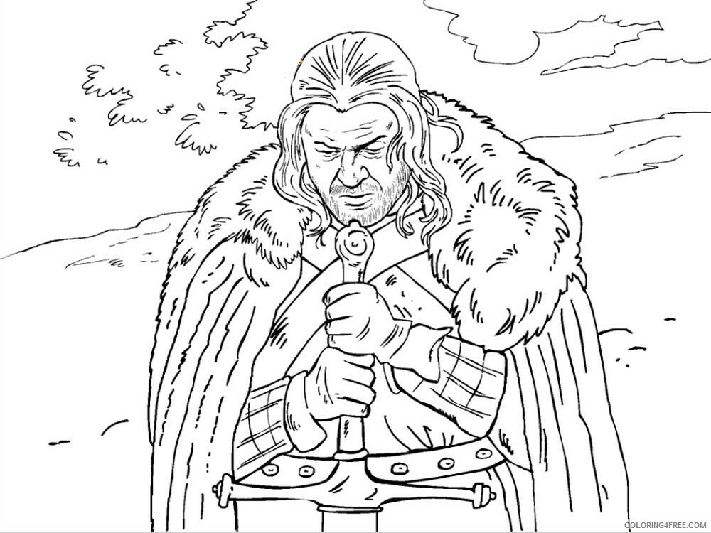 Game of Thrones Coloring Pages Game of Thrones 10 Printable 2021 2776 Coloring4free