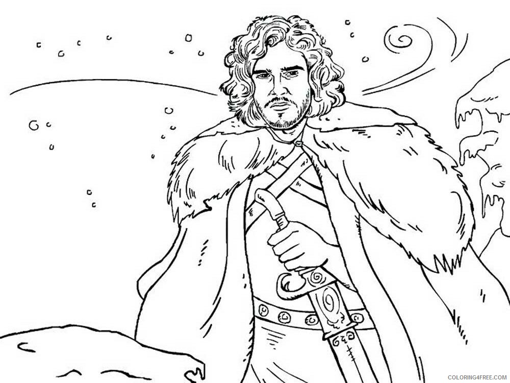 Game of Thrones Coloring Pages Game of Thrones 12 Printable 2021 2778 Coloring4free