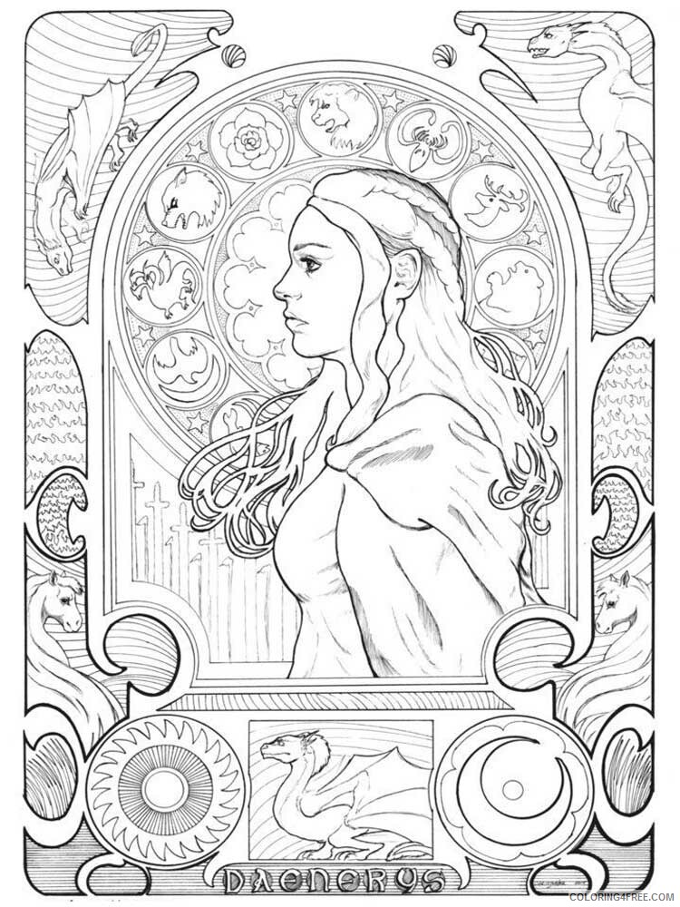 Game of Thrones Coloring Pages Game of Thrones 6 Printable 2021 2782 Coloring4free