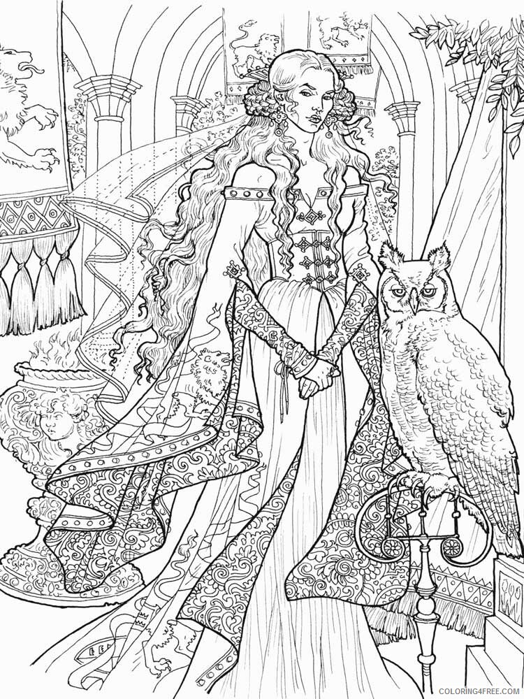 Game of Thrones Coloring Pages Game of Thrones 9 Printable 2021 2783 Coloring4free