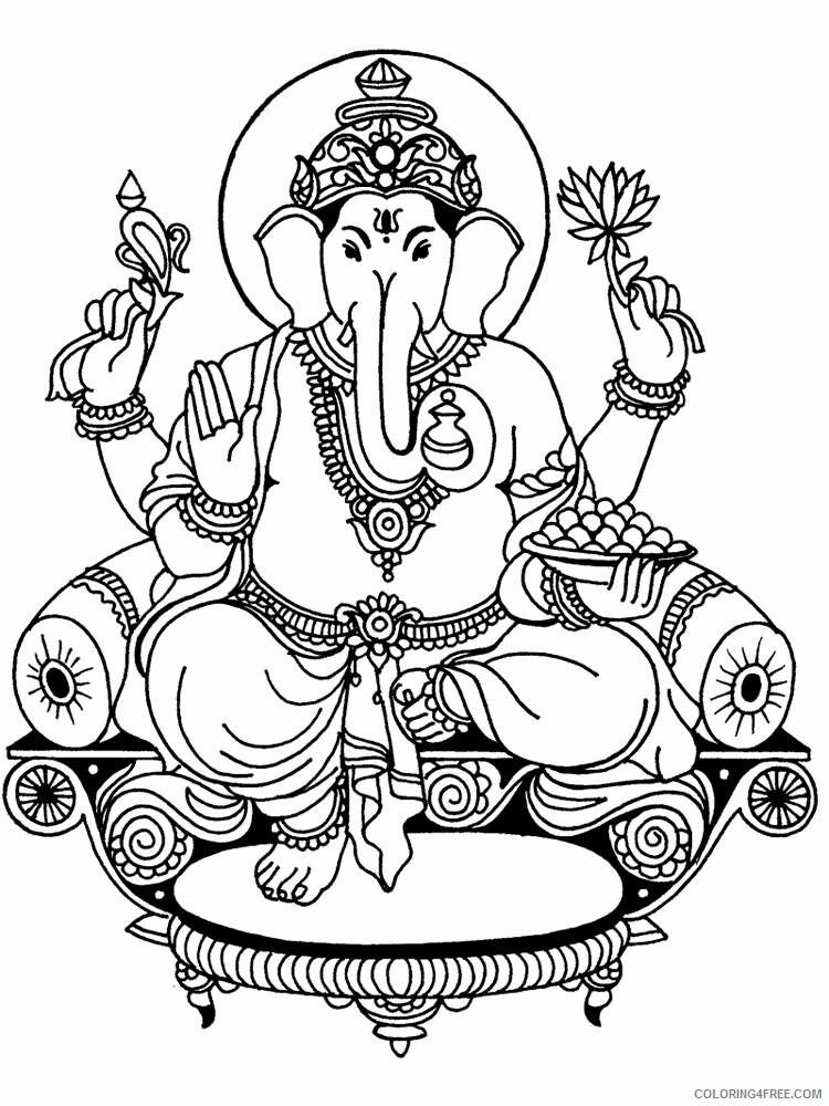 Ganesha Coloring Pages Ganesha 1 Printable 2021 2785 Coloring4free