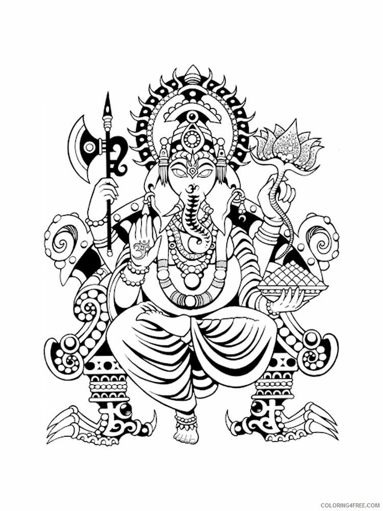Ganesha Coloring Pages Ganesha 15 Printable 2021 2788 Coloring4free