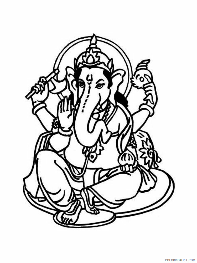Ganesha Coloring Pages Ganesha 2 Printable 2021 2790 Coloring4free