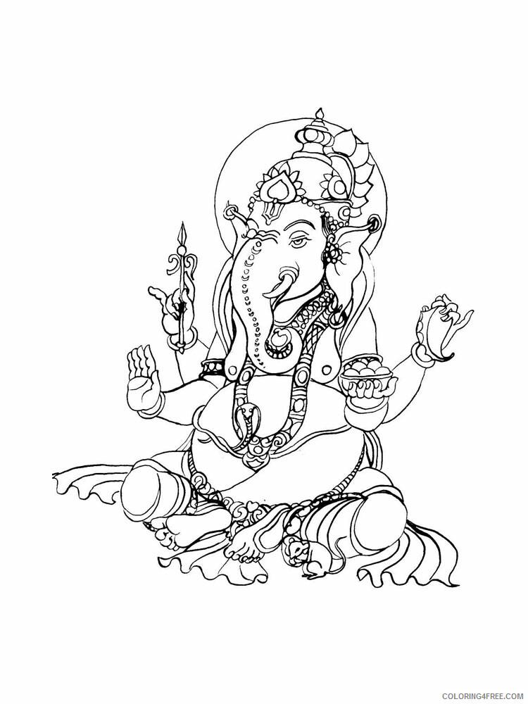 Ganesha Coloring Pages Ganesha 3 Printable 2021 2791 Coloring4free