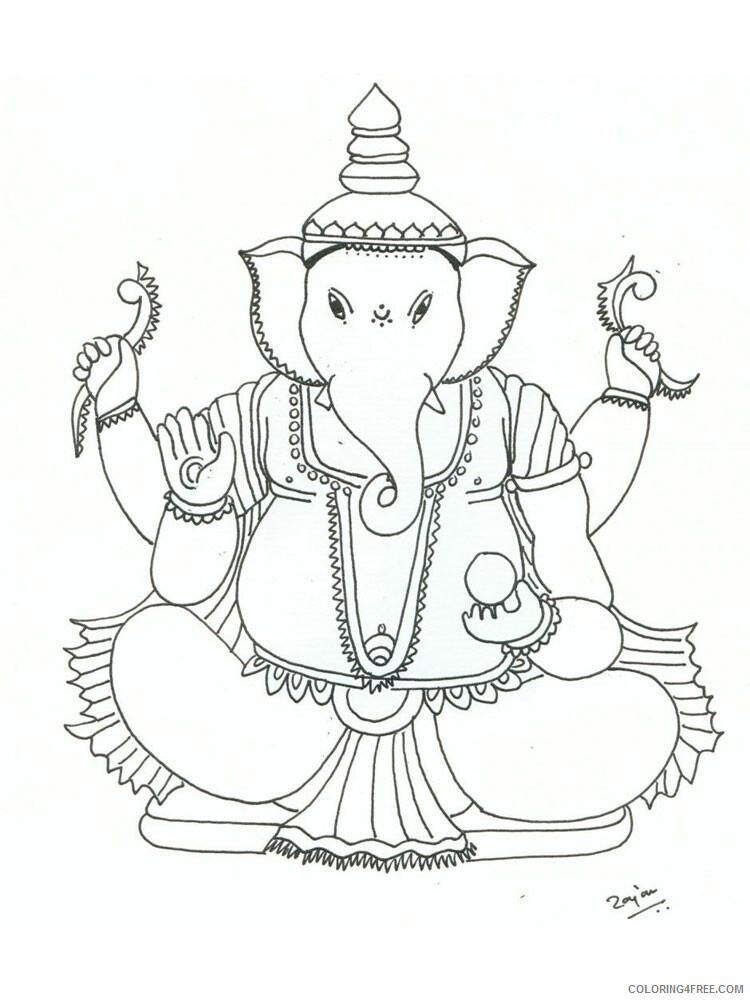 Ganesha Coloring Pages Ganesha 4 Printable 2021 2792 Coloring4free