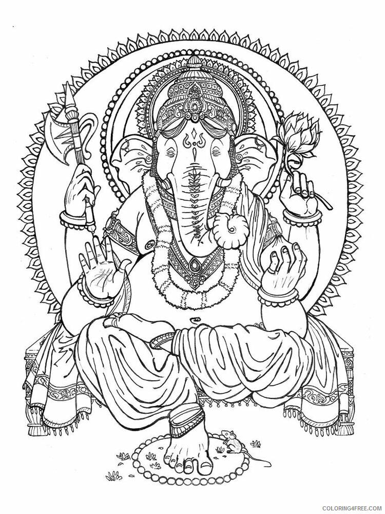 Ganesha Coloring Pages Ganesha 5 Printable 2021 2793 Coloring4free