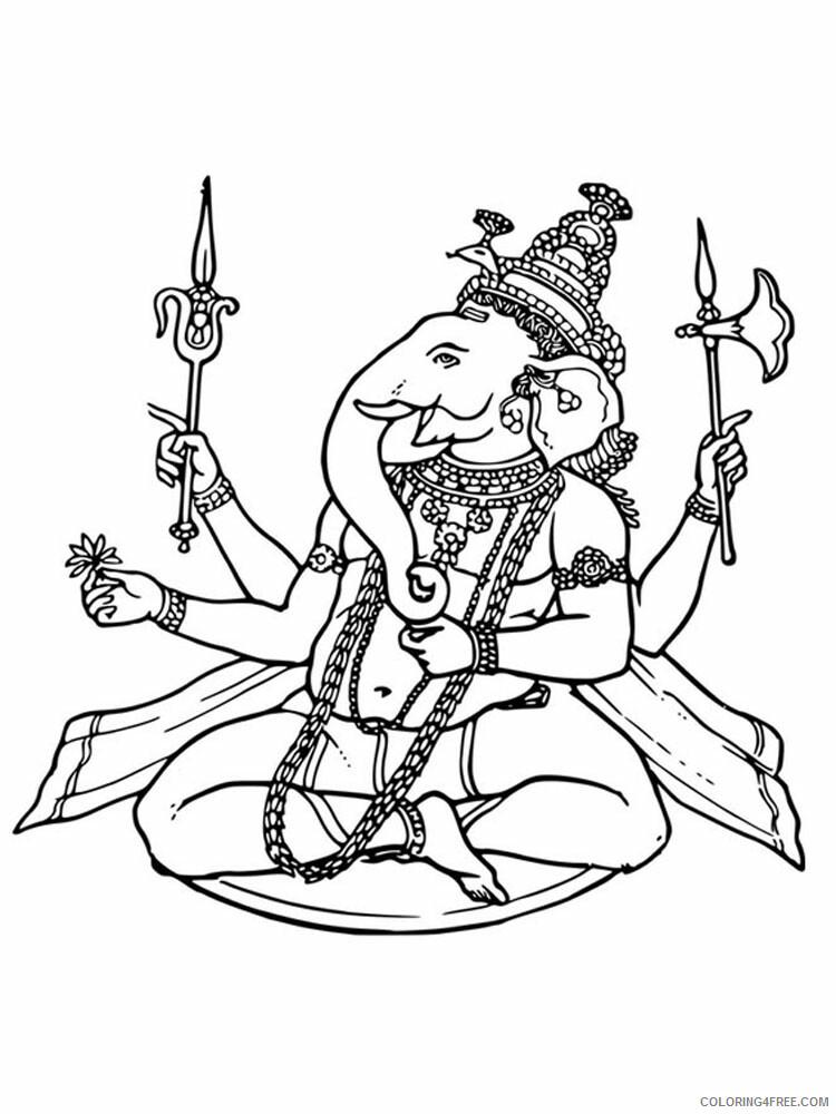 Ganesha Coloring Pages Ganesha 7 Printable 2021 2794 Coloring4free