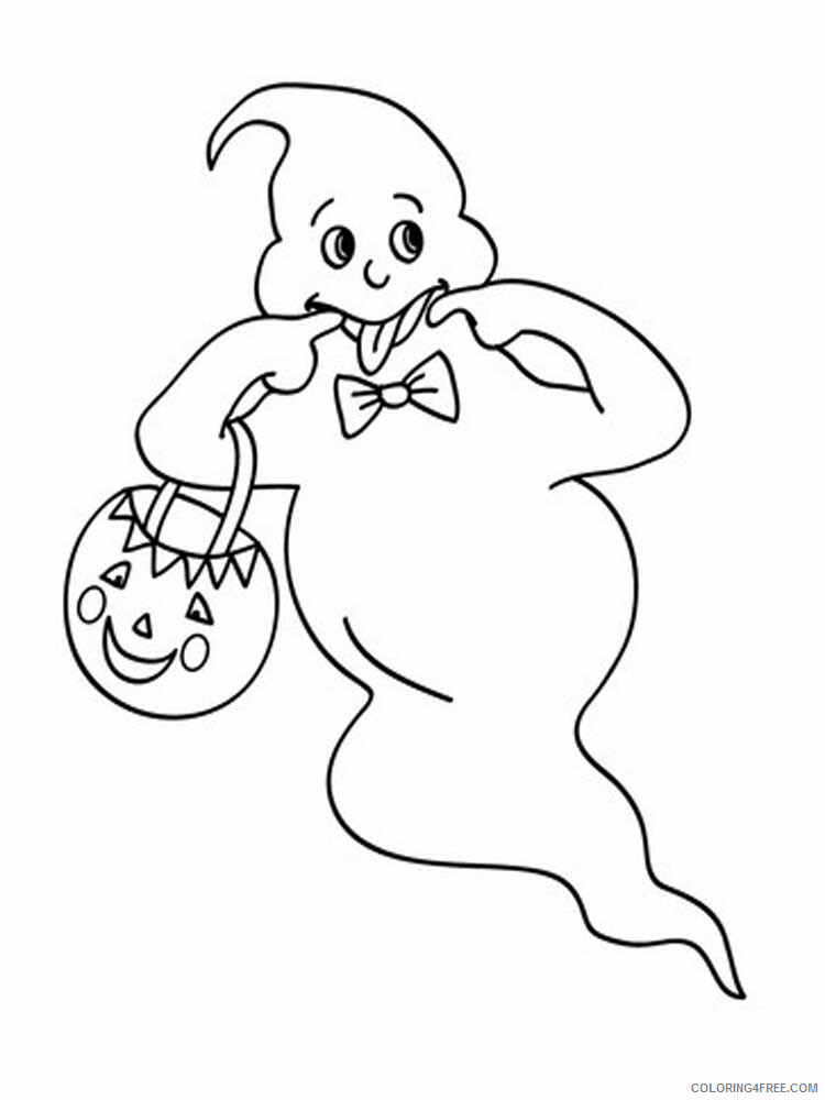 Ghost Coloring Pages GHOST 12 Printable 2021 2811 Coloring4free