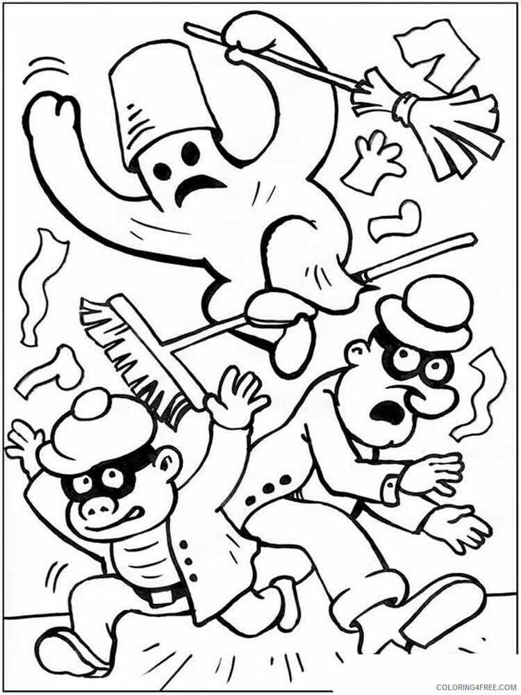 Ghost Coloring Pages GHOST 4 Printable 2021 2817 Coloring4free